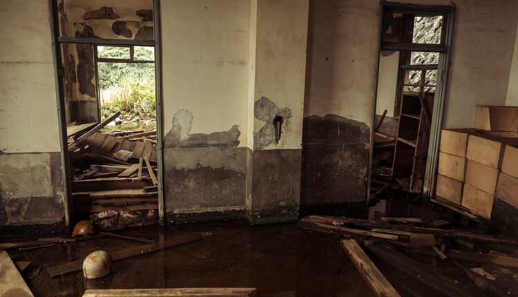 Flooded office at the Thirteen Levels